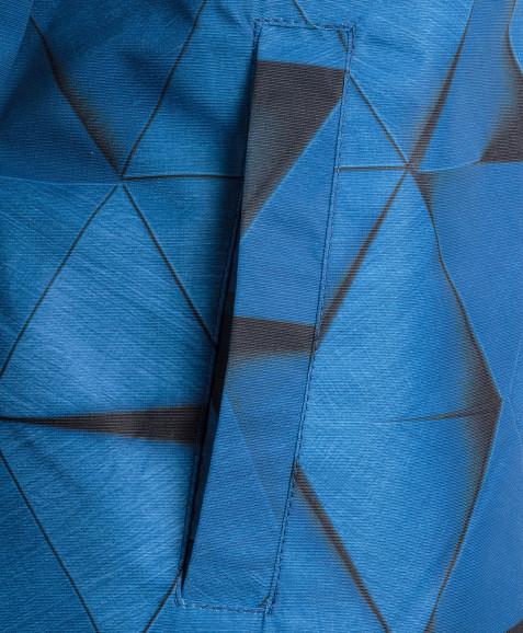 Синяя ветровка из мембранной ткани