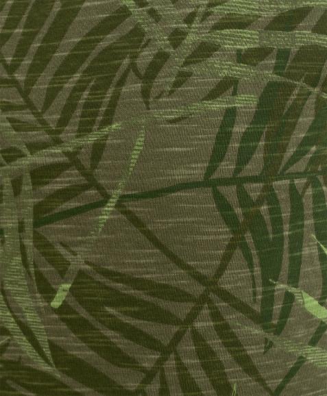 Зеленая майка с орнаментом Пальмы