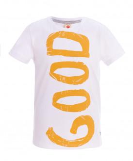 Белая футболка с коротким рукавом