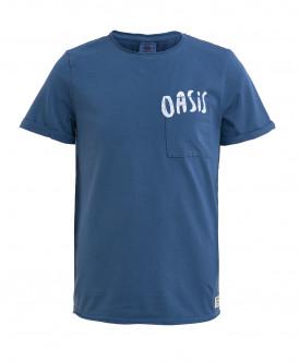 Синяя трикотажная футболка