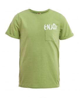 Зеленая трикотажная футболка Button Blue