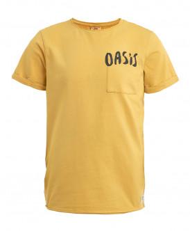 Охряная трикотажная футболка