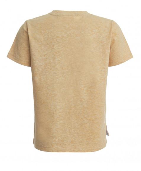 Охряная футболка с принтом Button Blue