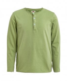 Зеленая футболка с длинным рукавом Button Blue