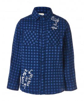 Синяя рубашка в клетку