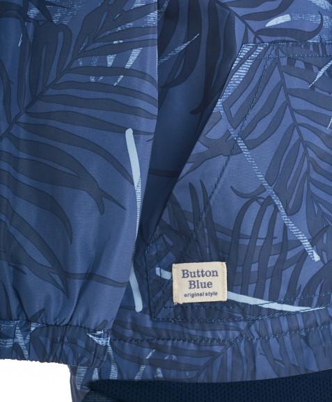 Синяя ветровка с орнаментом Пальмы