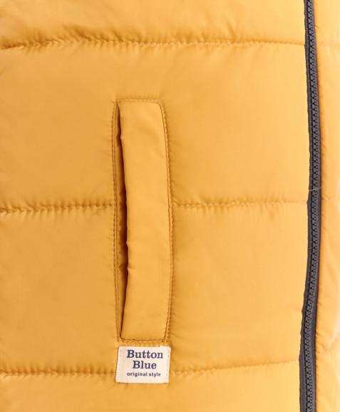 Охряный жилет Button Blue