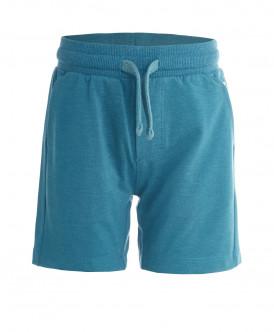 Бирюзовые трикотажные шорты Button Blue