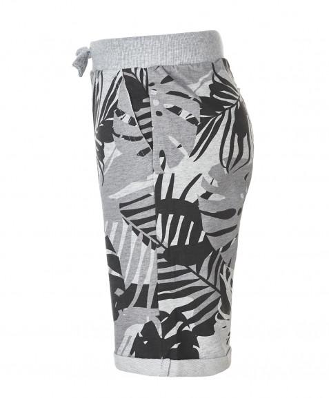 Серые шорты с орнаментом Пальмы