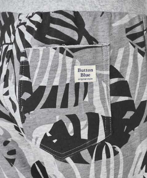 Серые шорты с орнаментом Пальмы Button Blue
