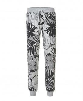 Серые брюки с орнаментом Пальмы