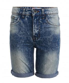Синие шорты с выцветшим эффектом