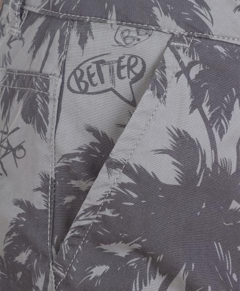 Серые бриджи с орнаментом Пальмы