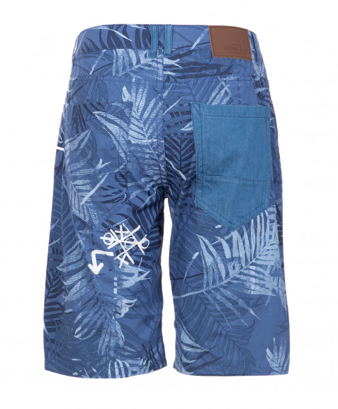 Синие бриджи с орнаментом Пальмы