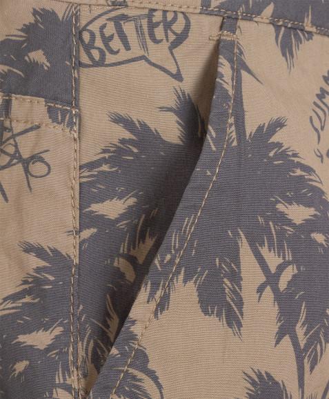 Бриджи хаки с орнаментом Пальмы