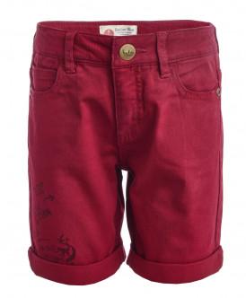 Красные шорты из твила