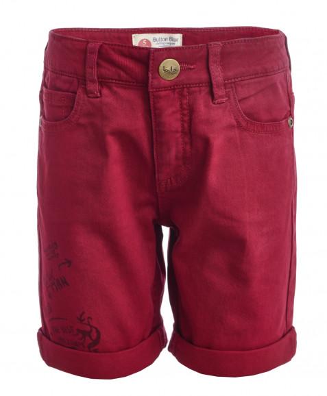 Красные шорты из твила Button Blue