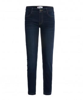 Классические темно-синие джинсы