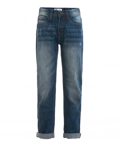 Синие джинсы с потертостями Button Blue