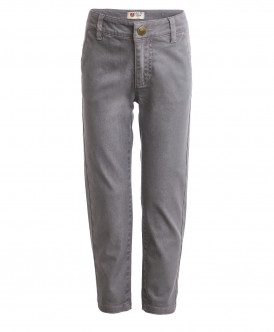 Серые брюки из твила