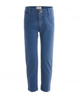Синие брюки из твила