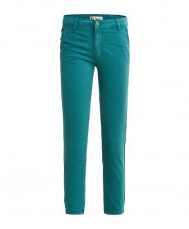 Бирюзовые брюки из твила