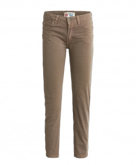 Бежевые брюки из твила