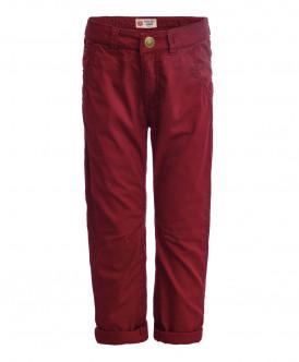 Красные брюки из твила