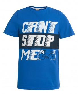 Синяя футболка с коротким рукавом