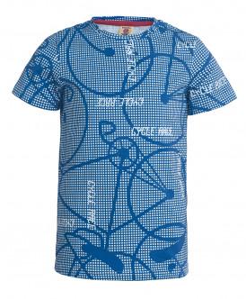 Синяя футболка с коротким рукавом Button Blue