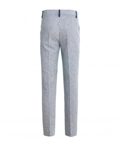 Синие брюки с в полоску