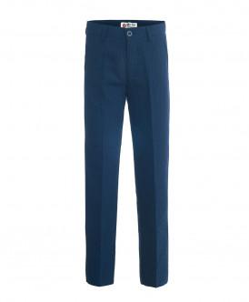 Синие брюки в полоску