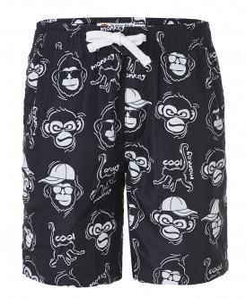 Черные плавательные шорты с орнаментом Животные Button Blue