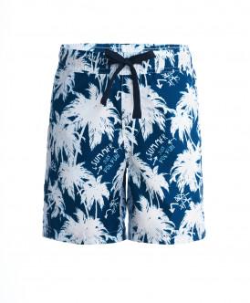 Синие плавательные шорты с орнаментом Пальмы