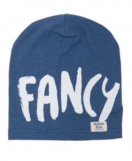 Синяя трикотажная шапка Button Blue