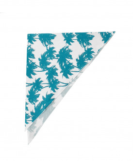 Белый платок с орнаментом Пальмы Button Blue