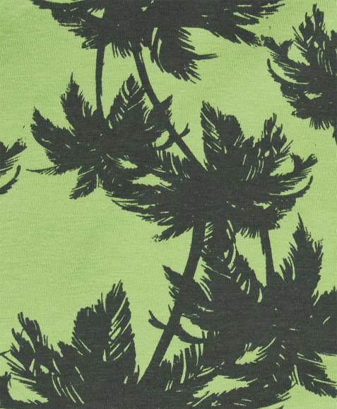 Зеленый платок с орнаментом Пальмы