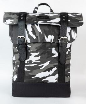 Серый рюкзак с орнаментом Button Blue