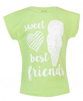 Салатовая футболка с принтом Button Blue