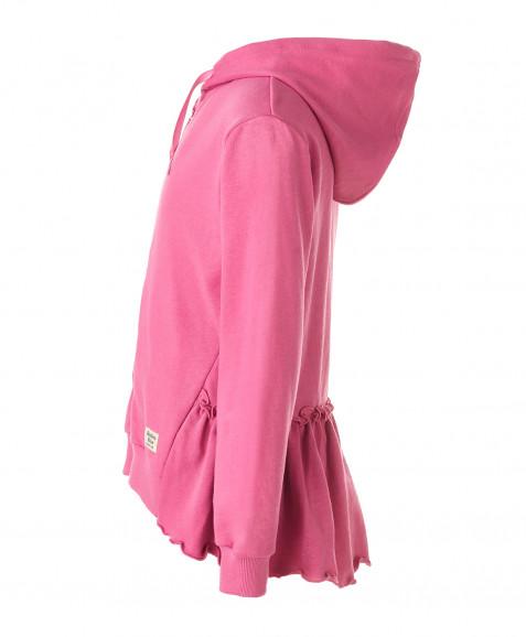 Розовая толстовка из футера