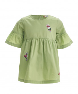 Салатовая блузка