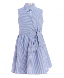 Голубое платье в полоску Button Blue