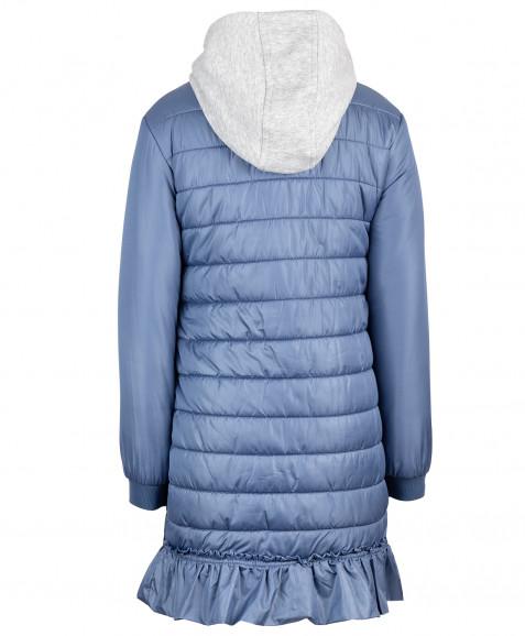 Синее демисезонное пальто Button Blue