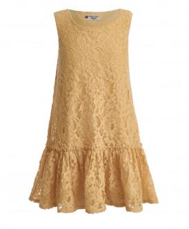 Желтое платье Button Blue