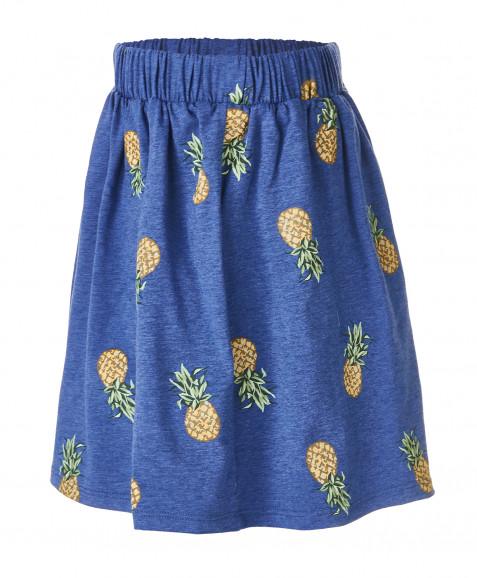 Синяя юбка с орнаментом Ананасы