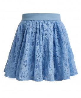 Голубая кружевная юбка