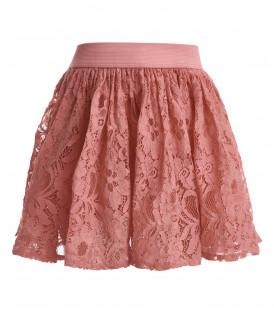 Розовая кружевная юбка