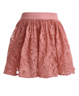 Розовая кружевная юбка Button Blue