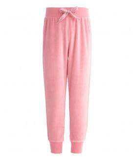Велюровые розовые брюки