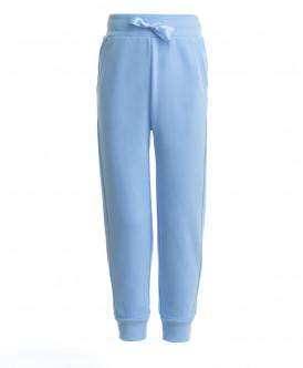 Голубые брюки из футера